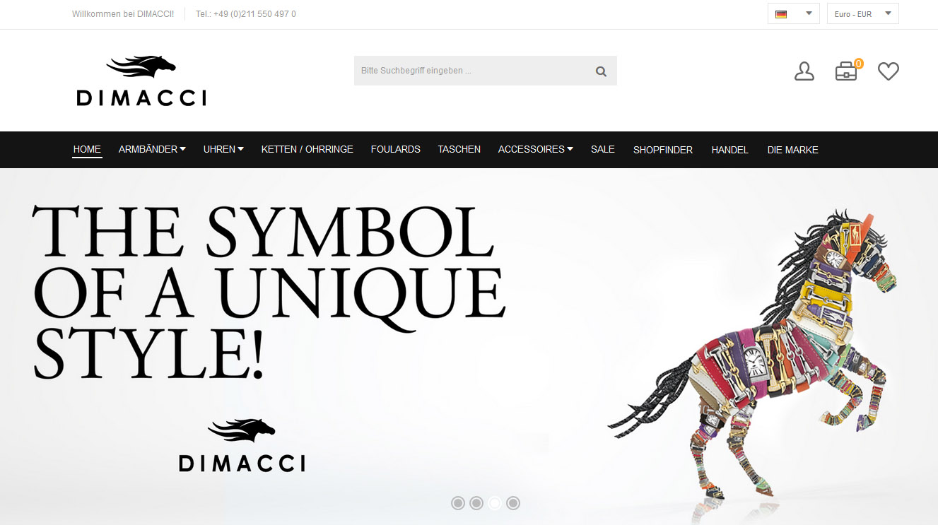 Magento Referenz: Luxuslabel DIMACCI