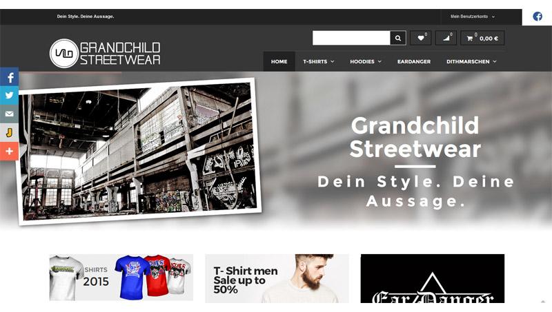 Magento Referenz: Grandchild Streetwear
