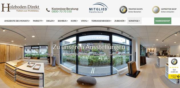 Magento Referenz: Holzboden Direkt